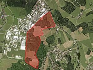Luftbild geplante Erweiterung