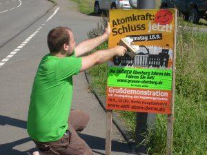 Anti-Atom-Plakatieren