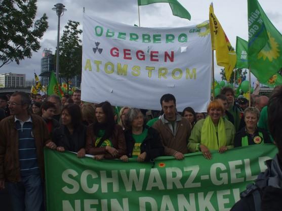 Oberberg gegen Atom mit Spitzenpolitikern Berlin 19-09-10