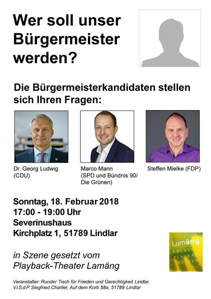 Plakat Podiumsdiskussion Runder Tisch